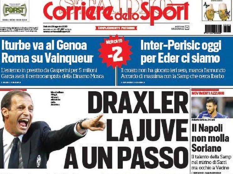 Photo of ترجمة عناوين الصحف الايطالية اليوم السبت 29-8-2015