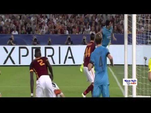 فيديو: هدف برشلونة الأول في مرمى روما عن طريق سواريزa