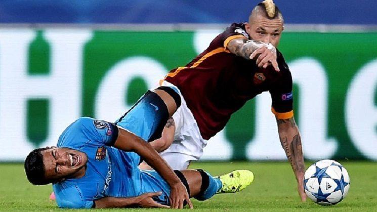 لحظة اصابة رافينيا ضد روما