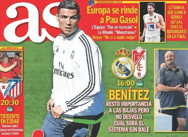 as - أبرز عناوين الصحف الاسبانية اليوم السبت 19-9-2015