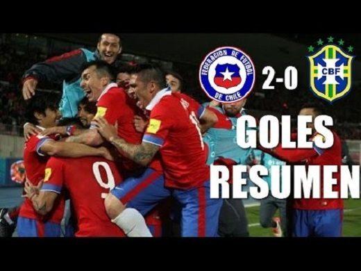 فيديو: اهداف تشيلي في مرمى البرازيل - تصفيات كأس العالم