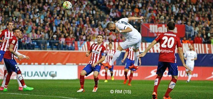 بن زيمة ريال مدريد ضد اتلتيكو مدريد