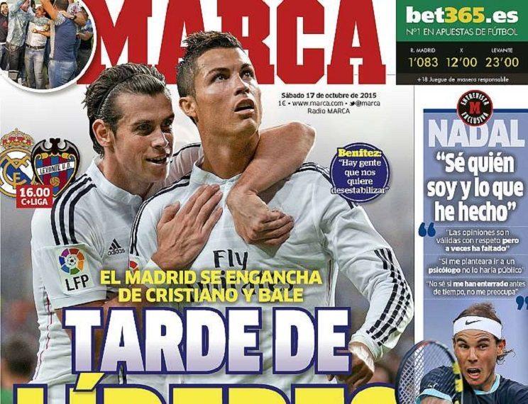 ابرز عناوين الصحف الاسبانية اليوم السبت 17-10-2015