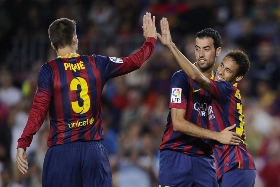 pique busquets y neymar - عاجل: ضربه جديده في صفوف برشلونة