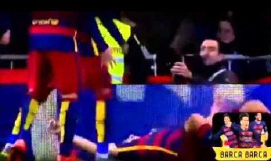 صورة فيديو: برشلونياً متسللاً بين جماهير ريال مدريد