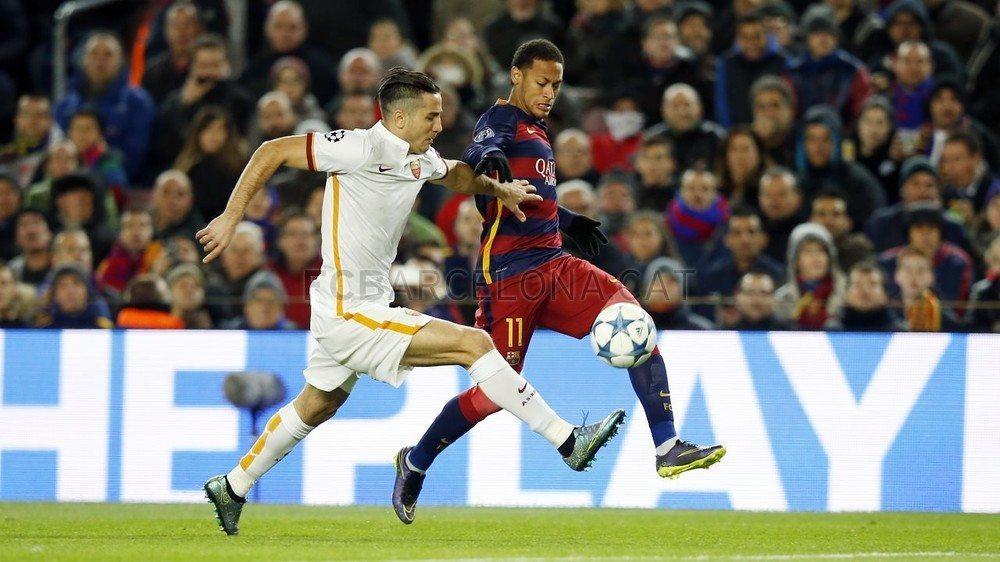 صورة فيديو: ملخص لمسات ومهارات نيمار في مباراة برشلونة وروما