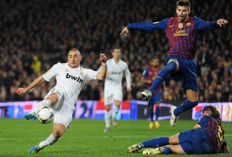 بنزيمة بيكي بويول برشلونة ضد ريال مدريد