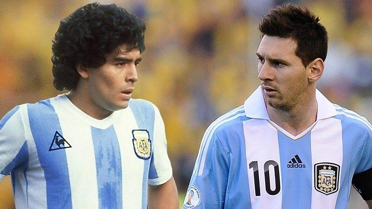 ميسي و مارادونا
