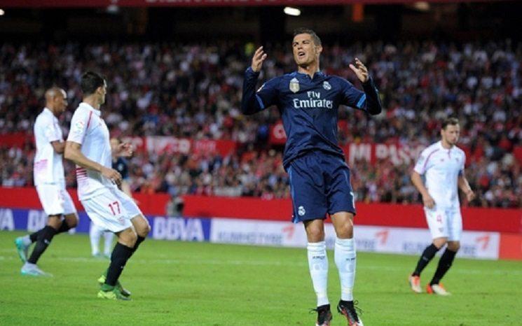 رونالدو في مباراة اشبيلية و ريال مدريد