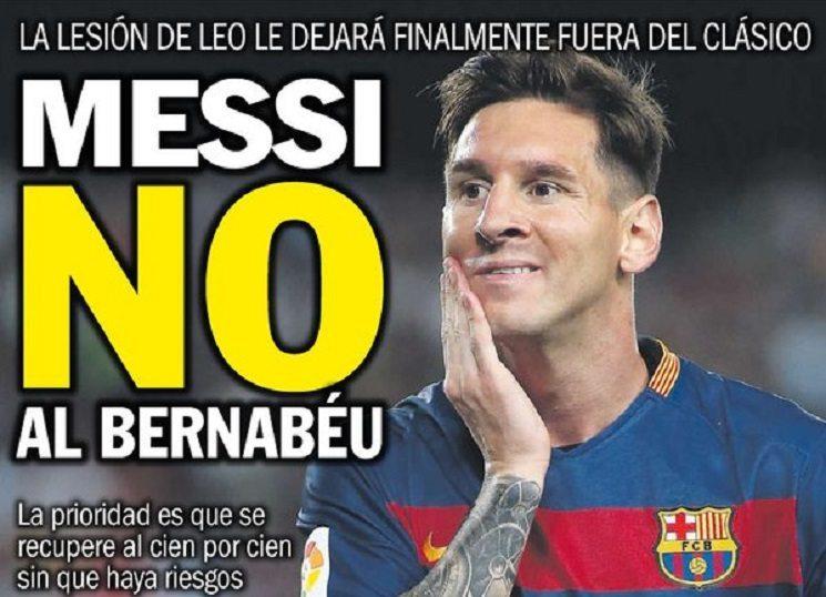 أبرز عناوين الصحف الاسبانية: ميسي لن يلعب الكلاسيكو