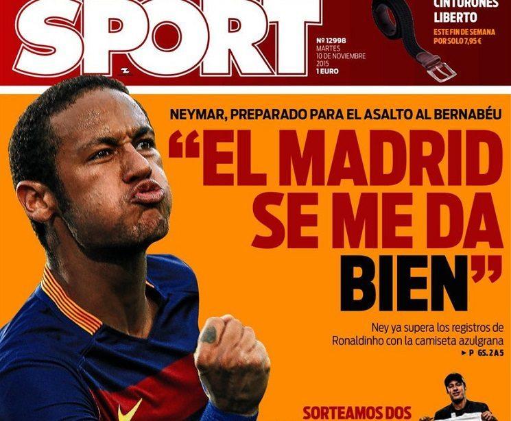 sport2 - ترجمة عناوين الصحف الاسبانية اليوم الثلاثاء 10-11-2015