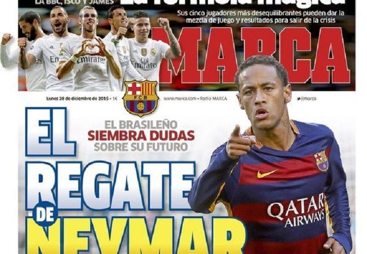 marca 3 - ترجمة عناوين صحف اسبانيا اليوم الاثنين 28-12-2015