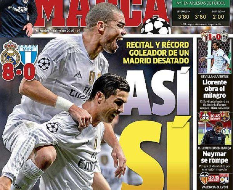 marca1 - ترجمة اهم عناوين صحف اسبانيا اليوم الاربعاء 9-12-2015