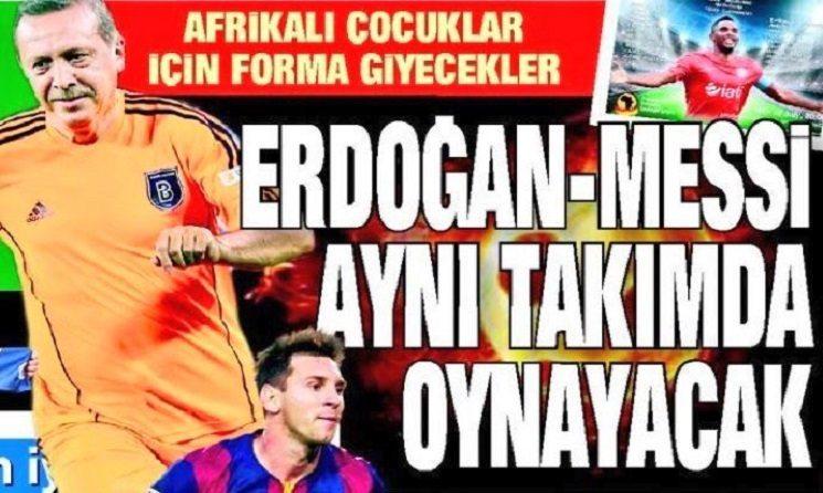 3 12 - رئيس تركيا يلعب بجوار ميسي