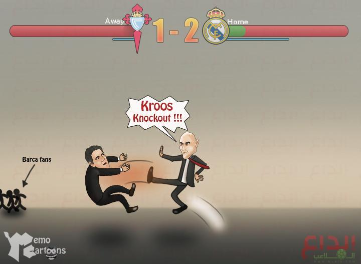 868094229 - كاريكاتير بالجول: ضربة كروس القاضية