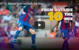 فيديو: قناة برشلونة تنشر أفضل 10 أهداف لميسي من تسديده بعيده