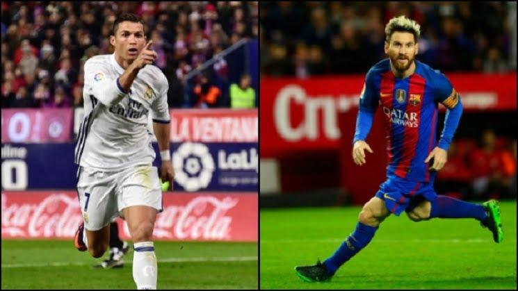 522885 barcelona vs real madrid el classico ronaldo and messi afp - توقيت والقنوات الناقلة لمباراة ريال مدريد و برشلونة