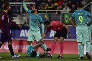 من جديد .. خطأ تحكيمي يضر برشلونة امام ايبار