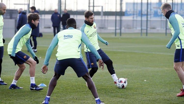 messi - بالصور: كواليس تدريبات برشلونة اليوم الاثنين بعد التعادل أمام فياريال