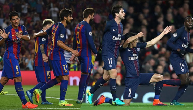 التشكيلة المتوقعة لقمة باريس سان جيرمان و برشلونة