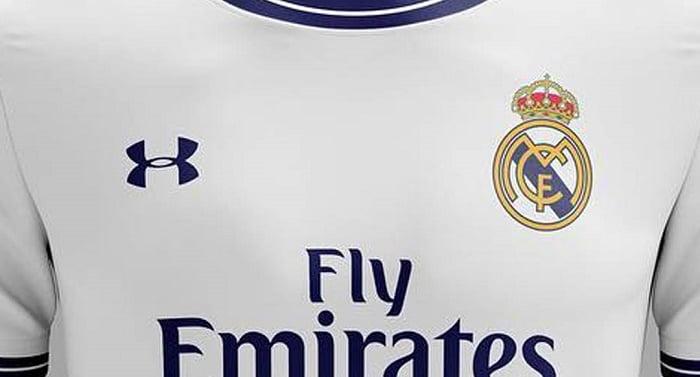 زي فريق ريال مدريد بشعار شركة أندر أرمور