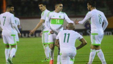 الكشف عن تشكيلة المنتخب الجزائري أمام الكاميرون بتصفيات المونديال