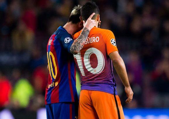 Sergio Aguero and Lionel Messi 1093880 578x405 - رسالة نصية من أجويرو لميسي