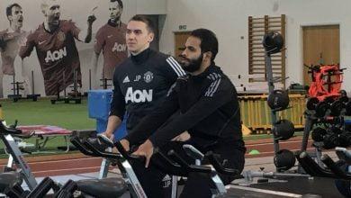 390x220 - احمد الفريدي يستمر بالتدريب في مانشستر يونايتد