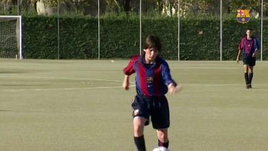 Photo of بالفيديو: مهارات ليونيل ميسي عندما كان صغيرا