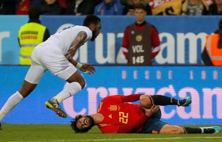 1 127 780x500 - عاجل.. الكشف عن الإصابة التي تعرض لها إيسكو في مباراة كوستاريكا