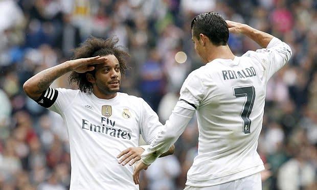 1 64 - رونالدو يطالب مارسيلو بالهدوء بعد قرار زيدان ضده