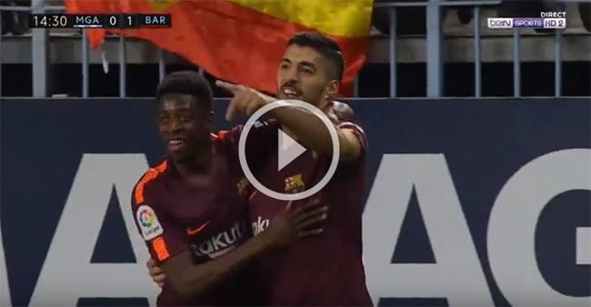 هدف برشلونة الأول في مرمى مالاجا