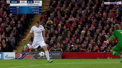 لقطة من مباراة روما و ليفربول