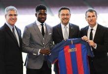 اومتيتي مع ادارة برشلونة