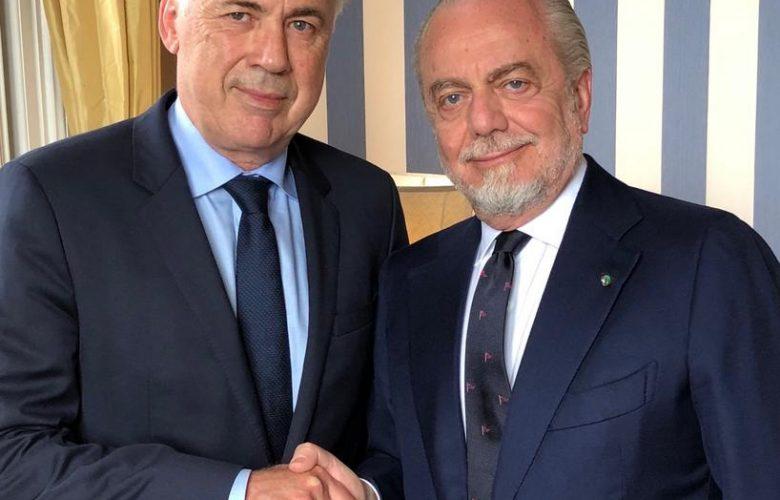 انشيلوتي مع رئيس نابولي