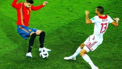 مباراة اسبانيا و المغرب