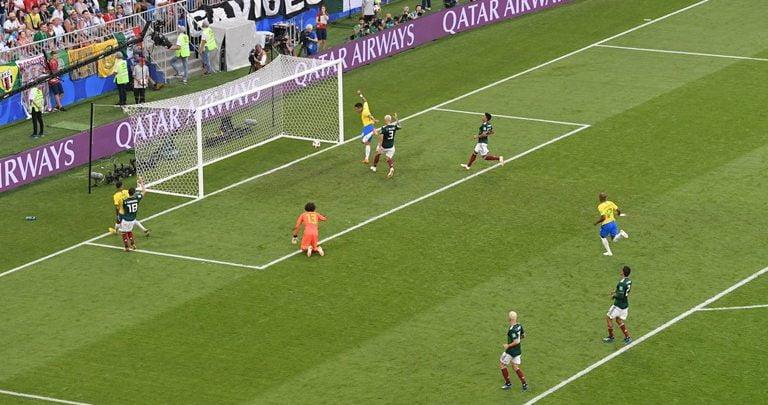 لقطة الهدف الثاني للبرازيل