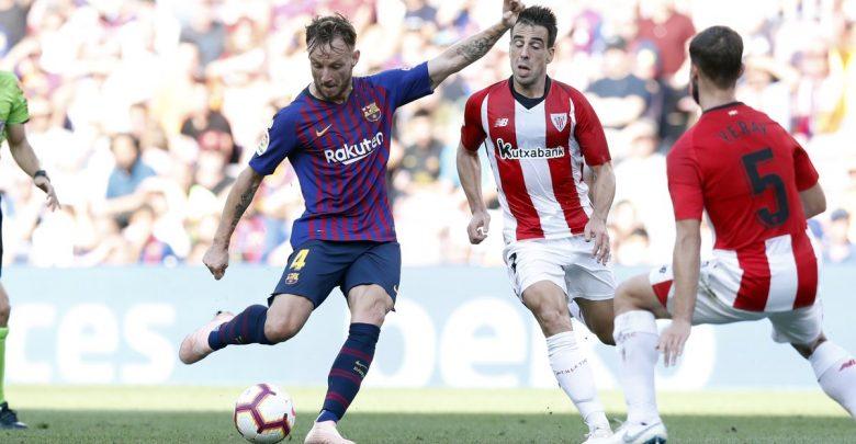 لقطة من مباراة برشلونة و بلباو