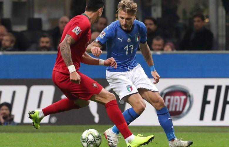 لقطة من مباراة ايطاليا و البرتغال