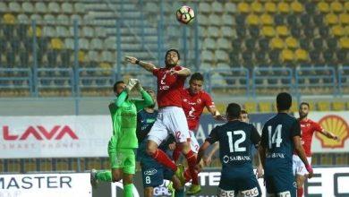 لقطة من مباراة الأهلي وانبي