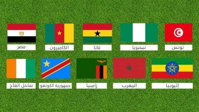 سجل أبطال كأس الأمم الأفريقية