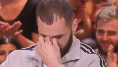 Photo of كريم بنزيما يبكي في لقاء تلفزيوني بسبب ابنه ابراهيم