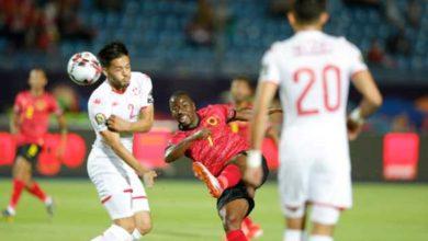 لقطة من مباراة تونس و أنجولا