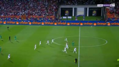 صورة لحظة صافرة نهاية مباراة الجزائر والسنغال وفرحة اللاعبين