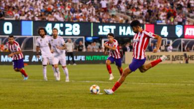 صورة هدف أتليتكو مدريد الخامس أمام ريال مدريد .. كأس الأبطال الدولية