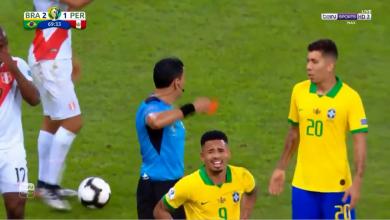 Photo of طرد خيسوس في مباراة البرازيل وبيرو في نهائي كوبا أمريكا