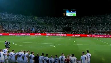 صورة لقطة البطولة.. شاهد ماذا طلب جمال بلماضي من لاعبي الجزائر قبل الاحتفال ؟
