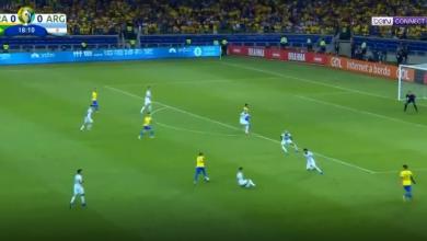 Photo of هدف البرازيل الأول في مرمى الأرجنتين بتعليق عصام الشوالي