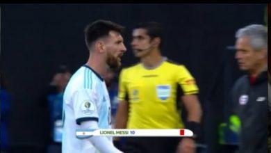 Photo of لقطة طرد ميسي في مباراة الأرجنتين وتشيلي