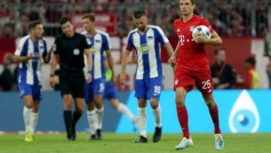 بايرن ميونخ يتعادل إيجابياً مع هيرتا برلين في الدوري الألماني